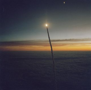The Early Challenger Lifts Off on 10.05.84 . Courtesy of NASA 10.05.15.