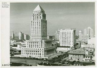 Miami-Dade County Courthouse.  Image courtesy of New York Public Library Collection.