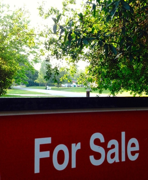 House for Sale Sign and Street View.05.10.15