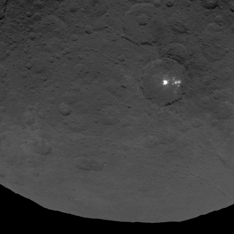 Dawn Survey Orbit Image of Ceres. Image provided by NASA. 06.15