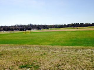 The waiting soccer field. Image copyright 2015 Dennis J. Wall.