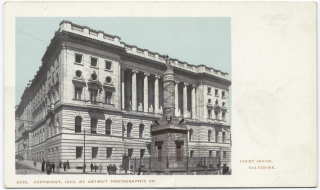 Courthouse  Baltimore  Maryland.  Image courtesy of New York Public Library Collection.