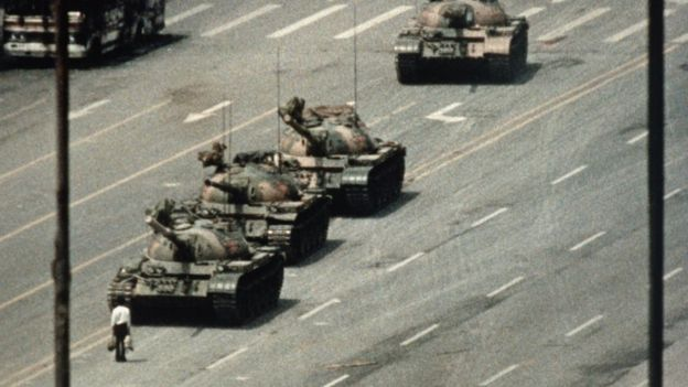 Tanks in Tiananmen Square in 1989.jpg Getty Images