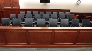 Jury Box (Empty) Brennan Linsley . AP
